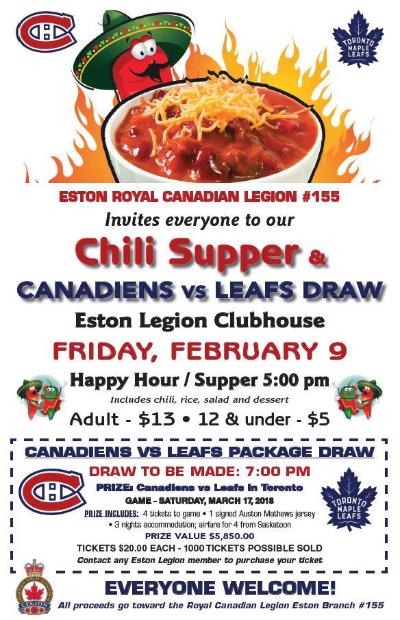 Chili Night at the Legion