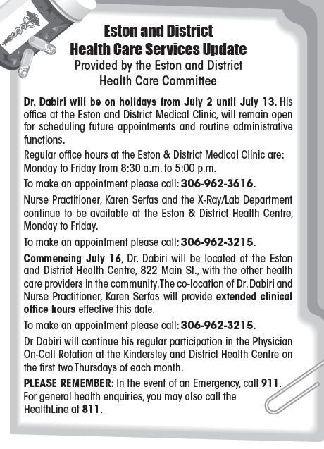 Health Care Announcement