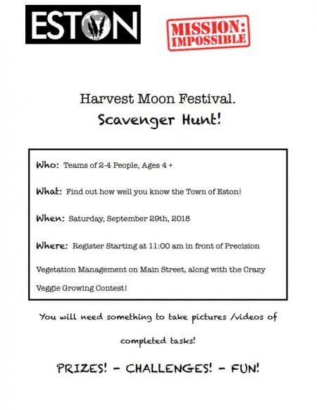 Scavenger Hunt @ Harvest Moon Festival