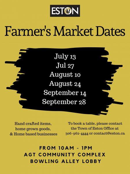 Farmer's Market Dates