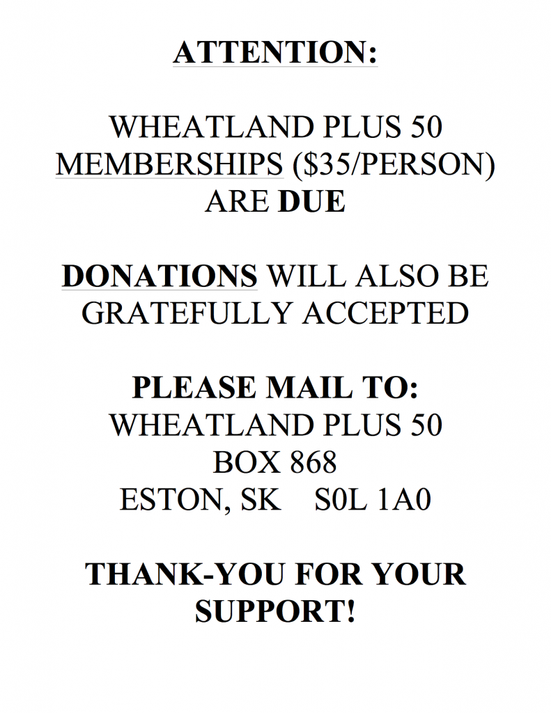 Wheatland Plus 50 Memberships